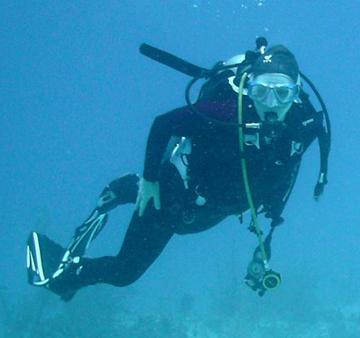 Me diving 2 smaller