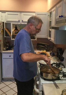 Ry in glasses cooking 1