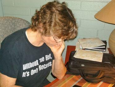 Hard working author