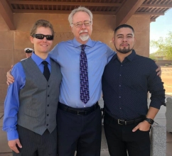 Troy, Brandon and Ry Dad's funeral